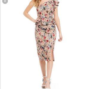 Gianni Bini One Shoulder Floral Dress